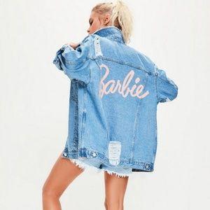 Barbie X Missguided Oversized Denim Jacket